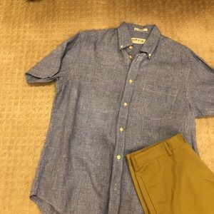 Men's Orvis short sleeve shirt Large
